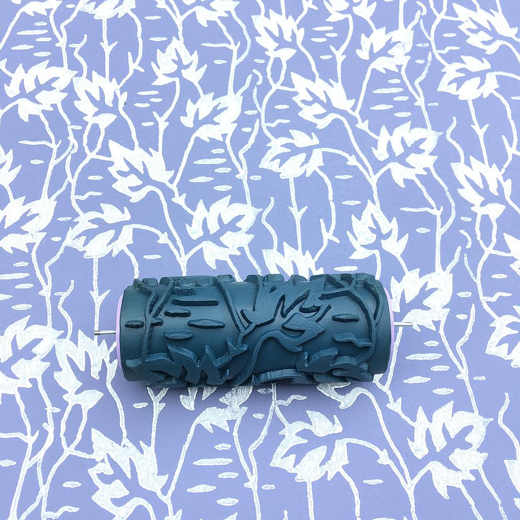 Paint rollerNo118,LEAVES,Pattern, Rubber decor roller, 15cm,patterned paint roller designs